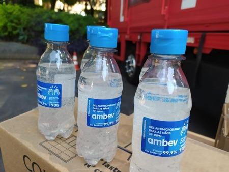 Ambev Alcool gel covid 19 para hospitais brasileiros