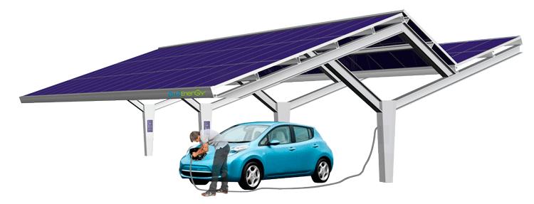 Carregar carro elétrico energias renovaveis
