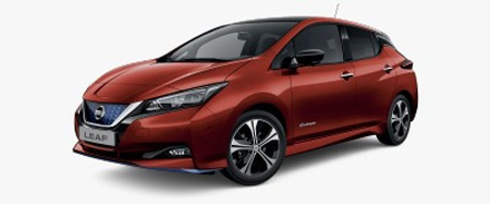 Nissan leaf 2020 vermelho