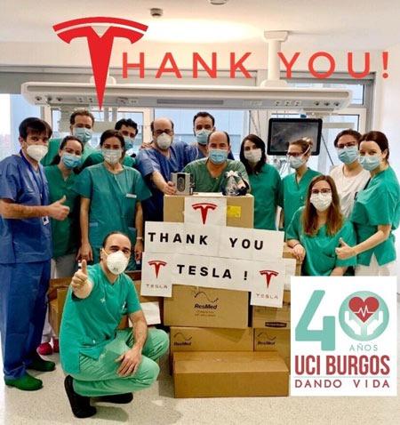 Respiradores Tesla para hospitais espanha por causa do virus chines covid 19