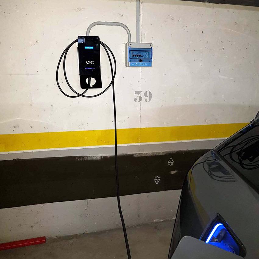 Carregor carro elétrico em condomínio