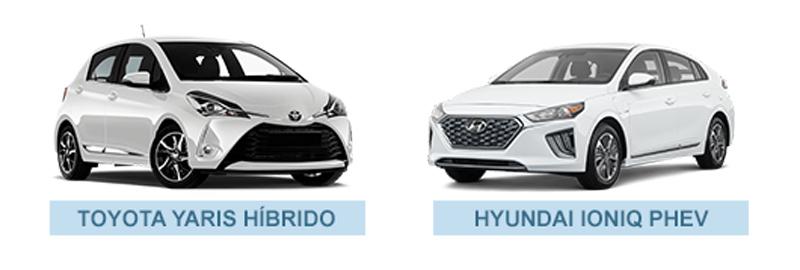 Toyota Yaris e Hyundai Ioniq, dois modelos de carros híbridos