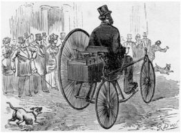 Triciclo elétrico, primeiro carro elétrico da história